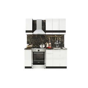 TARRA 120 kuchynská zostava, biely lesk 3D/wenge