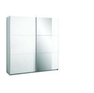 BASIA 200 šatníková skriňa s posuvnými dverami, biela