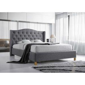 ASPENA čalúnená posteľ 160, šedá