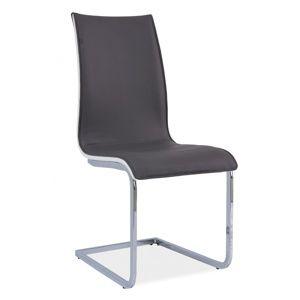 Jedálenská stolička HK-133, sivá/biela