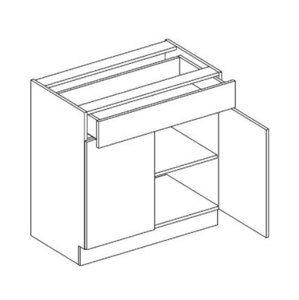 >> D80/S1 dolná skrinka so zásuvkou MOREEN andersen/dub lefkas