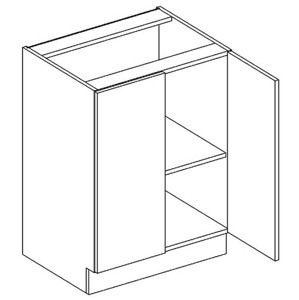 D60 dolná skrinka 2-dverová vhodná ku kuchyni DARK, LATTE