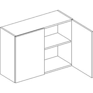 W80/58 horná skrinka 2-dverová MOREEN dub sonoma/škoricová akácia