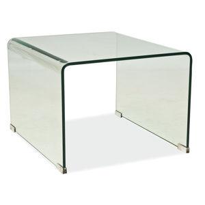 PRIMA B sklený konferenčný stolík z číreho skla