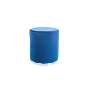 FURLY čalúnená taburetka, modrá/chróm