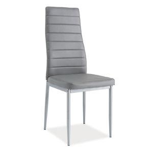 Jedálenská stolička VERME, šedá/alumínium