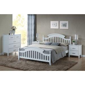 Drevená posteľ LIBONA 160, biela