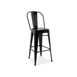 LIFT barová stolička, čierna