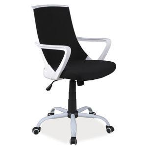 K-248 detská otočná stolička, čierna/biela
