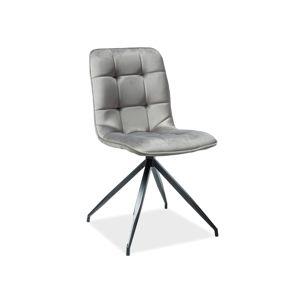 TEXAS jedálenská stolička, šedý zamat