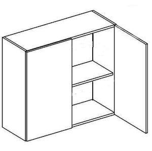 W80 horná skrinka dvojdverová, vhodná ku kuchyni PREMIUM, jelša