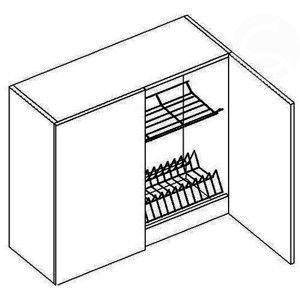 W80SZS horná skrinka s odkvapávačom, vhodná ku kuchyni NORA